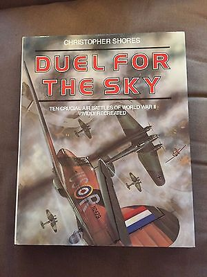 """""""DUEL FOR THE SKY"""" WW2 AIR BATTLES RECREATED WW2 LARGE HARDBACK BOOK"""