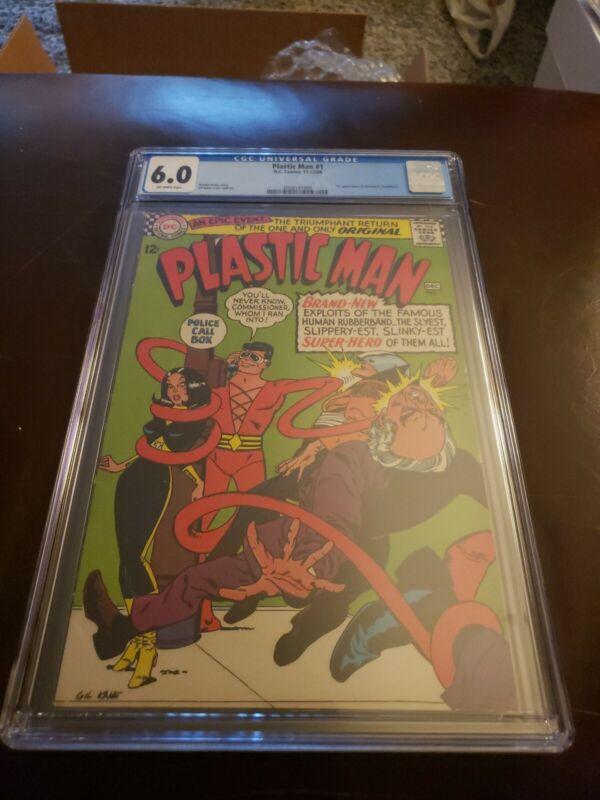 Plastic Man #1 CGC 6.0 OW 1st App of Plastic Man (Son of GA Plastic man) DC 1966