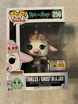 Funko Pop! SDCC 2017 Con Sticker Rick & Morty Tinkles Ghost In A Jar Damaged