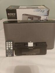 Sony Dream Machine iPod dock FM/AM Clock Radio ICF-CS10iP TESTED SOUNDS GREAT