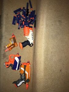 Nerf guns and nerf bullets