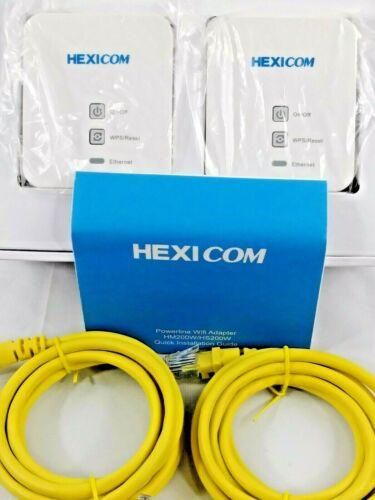 HEXICOM AV200 Mbps Powerline Adapter Ethernet Kit 4K IPTV Connect Household Kit