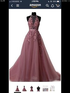 Brand new plum coloured princess dress with tulle (prom/grad)