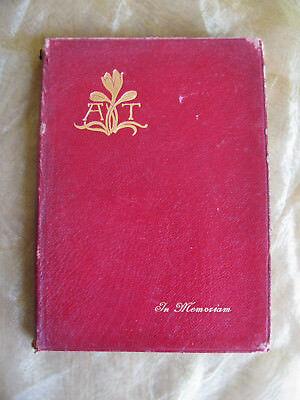 1899 In Memoriam von Alfred Lord Tennyson übersetzt v. Jakob Feis gebunden