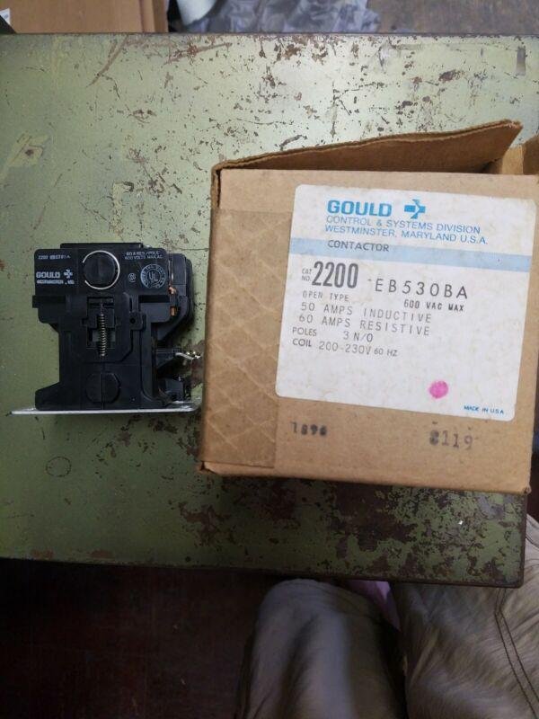 TELEMECANIQUE 2200EB530BA CONTACTOR 200-230V COIL 55DA gould