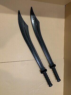 BladesUSA 1606PP Martial Arts Training Broad Sword, Polypropylene Black Lot Of 2