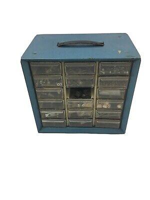 Vintage Metal 18 Drawer Nutbolt Small Parts Storage Cabinet Bin Organizer