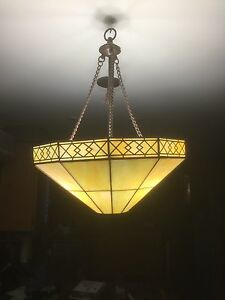 Tiffany glass light excellent condition priced to sell quick