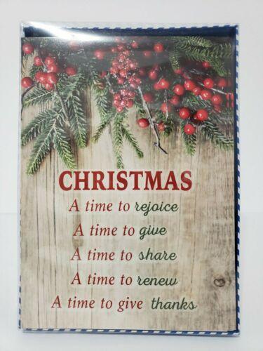 14 Christmas Cards and Envelopes (New Boxed) Navidad, Holidays, Greeting, Xmas