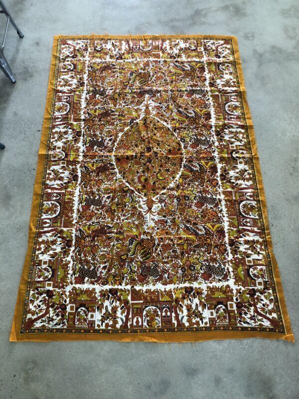 "Vintage Dutch Holland JAVA Fabric Panel 46""x71"" - Vlisco"