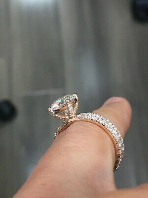 Genuine 1.25 Ct Round Cut Diamond Engagement Ring I,VS2 GIA White 14K Gold 8