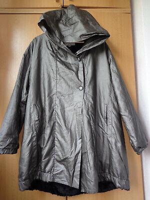 Ivan Grundahl pearl beige faux fur lined hooded jacket size 36 - UK12-14 L