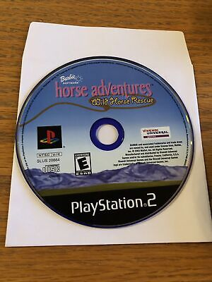 Barbie Horse Adventures: Wild Horse Rescue (Sony PlayStation 2) Works Guaranteed