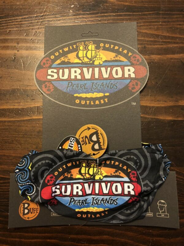 Survivor: Pearl Islands black buff - New w/card and tags - Season 7