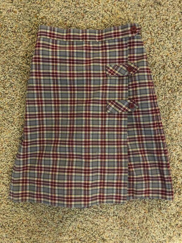 Challenger School Burgundy/Gray Skirt Size 8