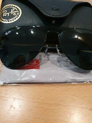 Ray-Ban Aviator Metal Carbon Black Sonnenbrille 58