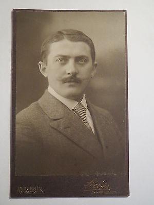 Plauen i. V. - Mann mit Bart im Anzug - Portrait / CDV