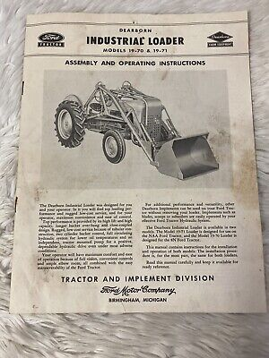 Ford Tractor Industrial Loader Model 19-71 Assembly Operating Instructions 55