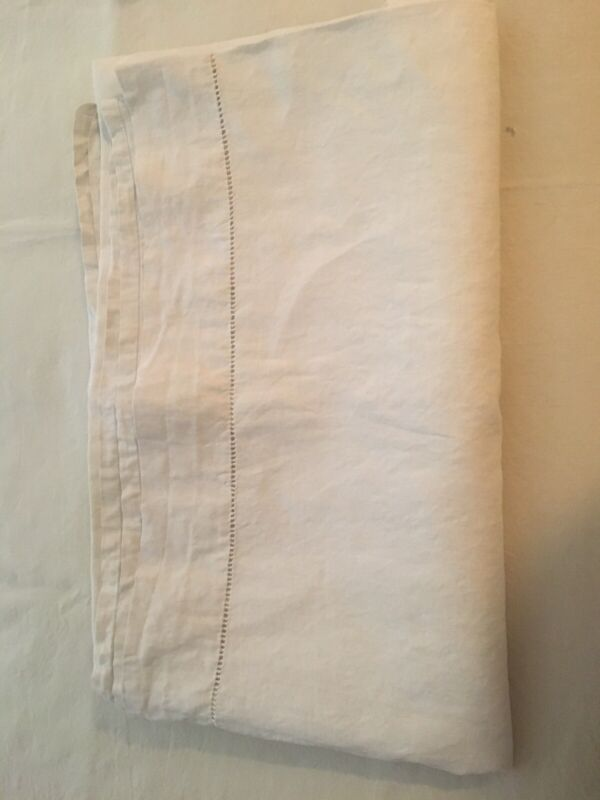 "Antique Straight From Belfast Irish Linen Sheet 88"" X 108"""