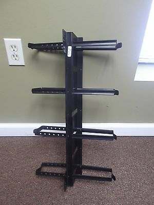 - Double sided Vertical Rackmount Cable Management Panel - 4 loops each side CM06