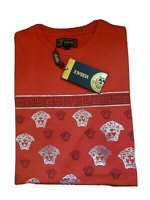 Versace Collection Men's Slim Fit Cotton T-Shirt Red Medium