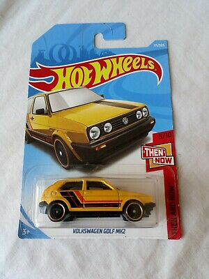 Hot Wheels Volkswagen Golf Mk2 Yellow 2018 5/10 Then And Now Long Card