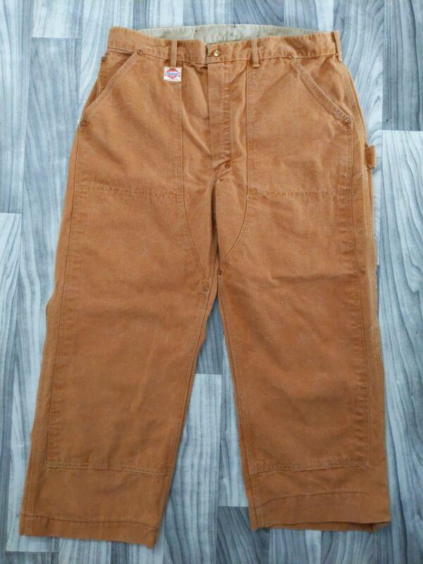 "Vintage 50s Carhartt Union Made Sanforized Work Pants 36.5"" x 37"" 40s VTG USA"