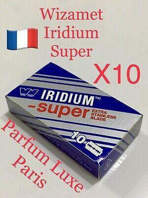 10 X WIZAMET SUPER IRIDIUM The Best Razor Blade Double Edge DE Vintage Low