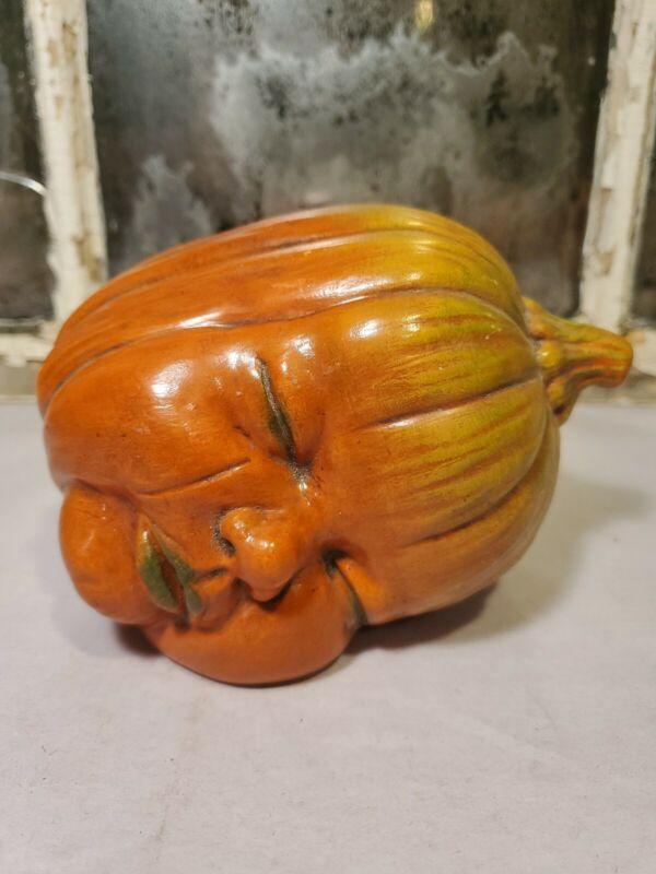 Scioto baby face ceramic pumpkin head. Marked Scioto on bottom.