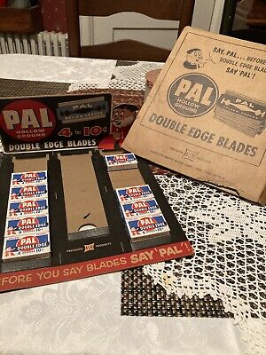 Vintage Pal Store Display With Individual Packets Of Blades For Sale