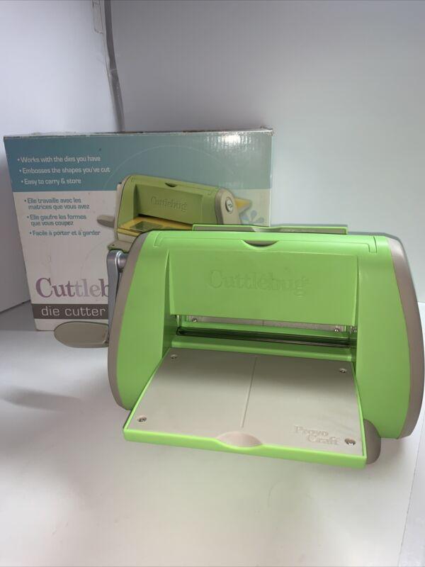 Cricut Cuttlebug Die Cutting Embossing Machine Green Clean!!