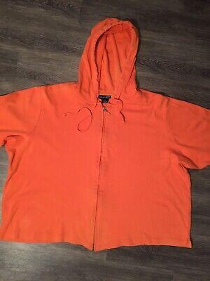 Venezia brand size 22/24 Cotton Zip-front Hoodie - Boxy fit, Elbow Sleeve length Elbow Sleeve Hoodie