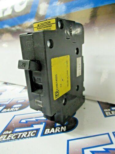 Square D EHB14020, 1 POLE, 20 AMP, 277 VOLT,  Circuit Breaker- NEW