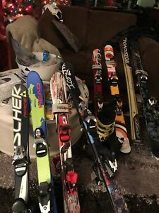 All kinds of junior downhill skis available