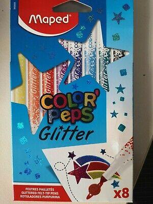 Maped Glitter Color Peps Glitterstifte GlitzerFilzstifte fest eingefasste Spitze - Glitter Spitzen