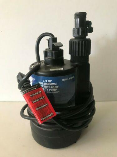1/4 hp Submersible Thermoplastic Utility Sump Pump Superior Pump model #91250