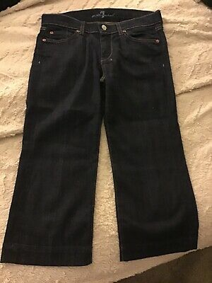 7 For All Mankind Dojo (7 For All Mankind Dojo Crop Wide Leg Denim Jeans Size 28 )