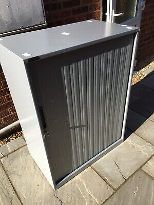 Triumph Tambour Metal Office Workshop Filing Cupboard Storage Furniture