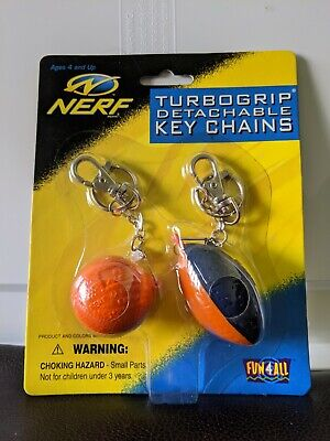 New - 1999 Nerf Ball and Football Keychain - Fun 4 All