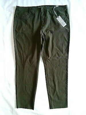 NWT Women's ELITE Skinny Jeans Sz 19 20 Army Green Active Stretch NEW Womens Elite Hose