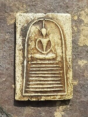 Wonderful, Antique Buddhist clay Amulet. Double sided. Siam