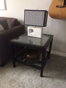 End Table and Lamps (x2)