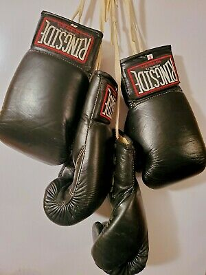 RINGSIDE 8 OUNCE LEATHER BOXING GLOVES