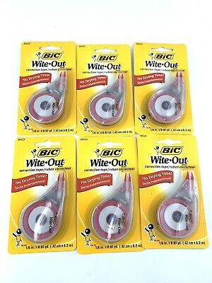 Bic Wite Out Correction Tape Lot Of 6