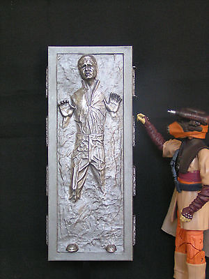 Star Wars Black Series  6  Pre Finished Carbonite Cast Han Solo Boba Fett Jabba