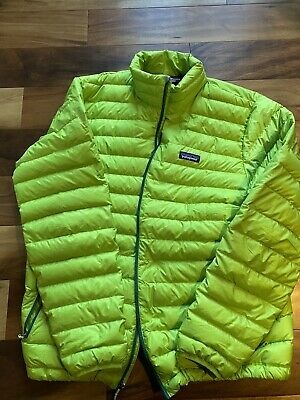 Patagonia Mens Down Sweater Jacket Size Extra Large - Green