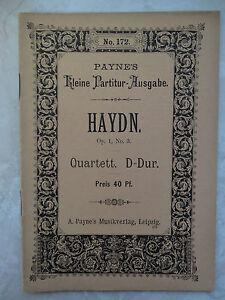 Haydn:Quartett D-Dur op.1 Nr.3 (Kl.Partiturausgabe/A. Payne s Leipzig) - Mürzzuschlag, Österreich - Haydn:Quartett D-Dur op.1 Nr.3 (Kl.Partiturausgabe/A. Payne s Leipzig) - Mürzzuschlag, Österreich