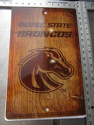 PRICE DROP!!!   NCAA FANTIQUE BOISE STATE BRONCOS WALL SIGN - LOT OF 7 SIGNS