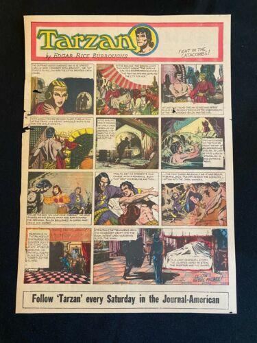 #51 TARZAN by Burne Hogarth Sunday Tabloid Full Page Strip January 20, 1946