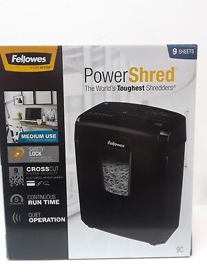 Fellowes Powershred 9c Cross-cut Shredder Crc47758